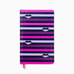 lips stripe take note large notebook